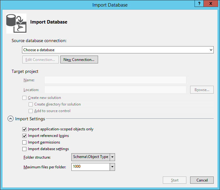 Import database - step 1