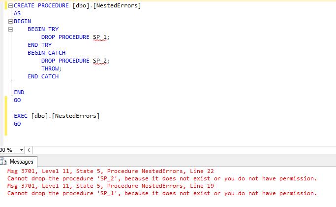 nested errors