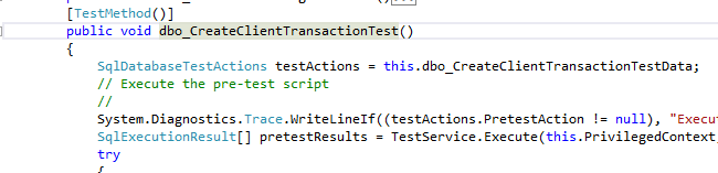 transaction test - before