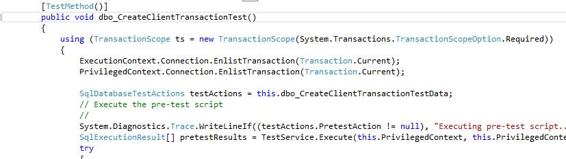 transaction test - one test