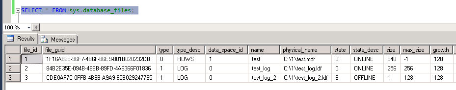 Ghost log file state
