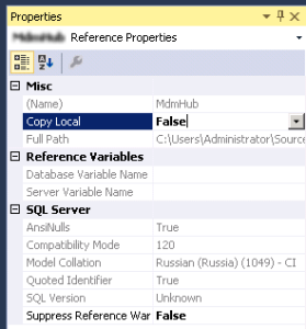 DB reference properties