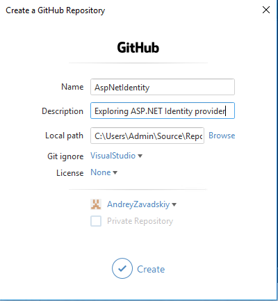 Creating GitHub Project In Visual Studio 2017 – Andrey